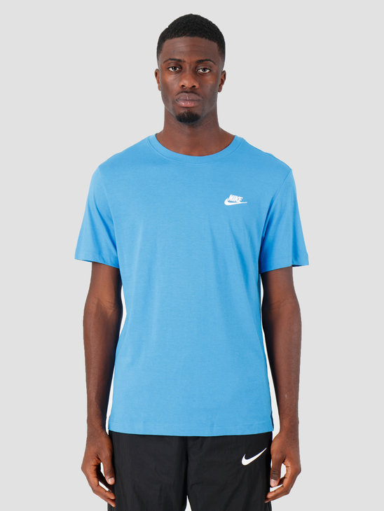 Nike Sportswear Club T-Shirt LT Photo Blue White Ar4997-435