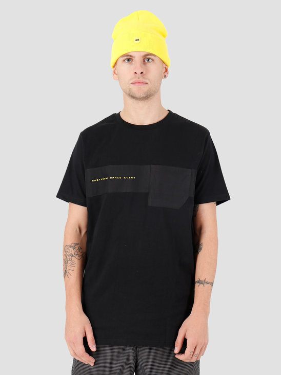 FRESHCOTTON x ADE Cut and Sew T-shirt Black