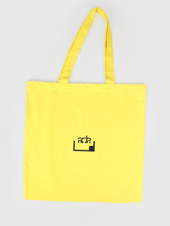 FRESHCOTTON x ADE Printed Tote Bag Yellow