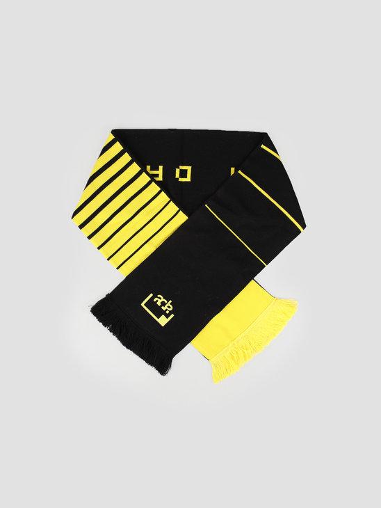 FRESHCOTTON x ADE Scarf Black Yellow
