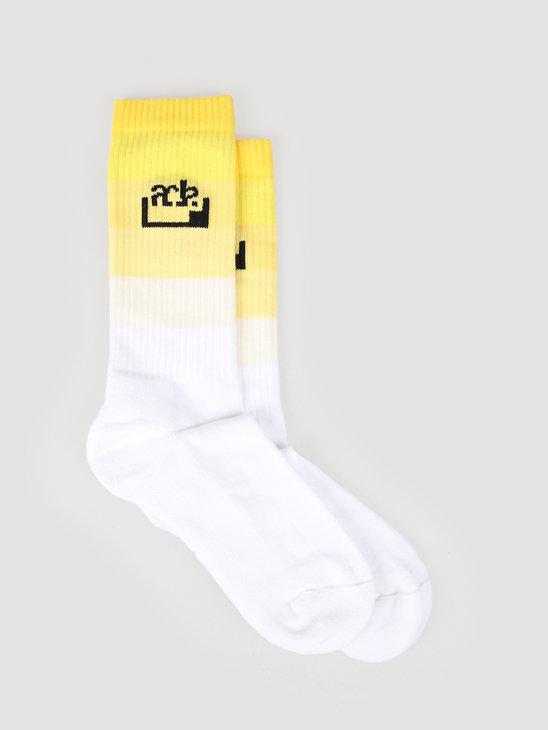 FRESHCOTTON x ADE Socks White Yellow
