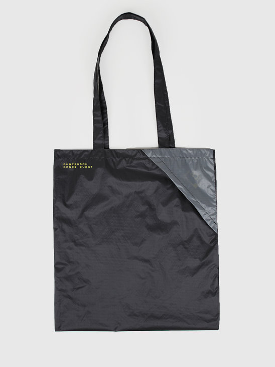 FRESHCOTTON x ADE Packable Ripstop Tote Bag Black