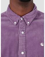 Carhartt WIP Carhartt WIP Longsleeve Madison Cord Shirt Dusty Mauve Cinder I025247