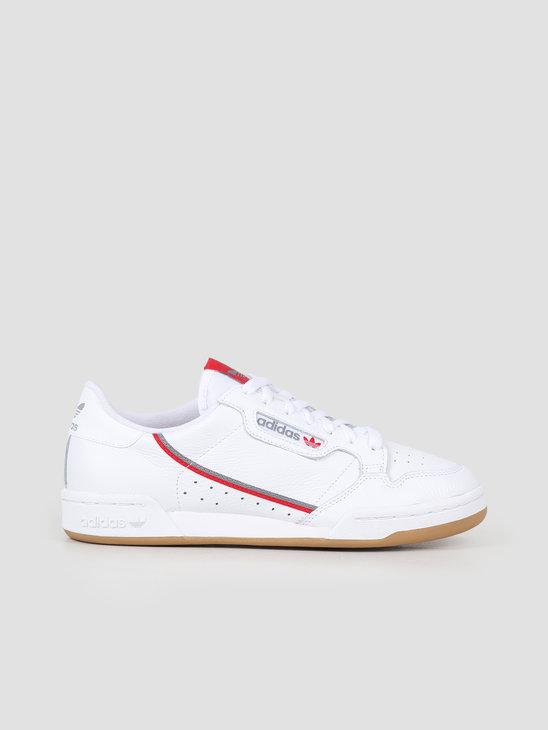 adidas Continental 80 Grey White Scarle FV0356
