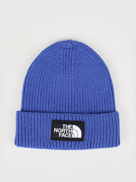 The North Face Logo Box Cuffed Beanie Blue T93FJXCZ6
