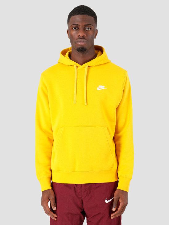 Nike Sportswear Club Fleece Hoodie Dark Sulfur Dark Sulfur White Bv2654-743