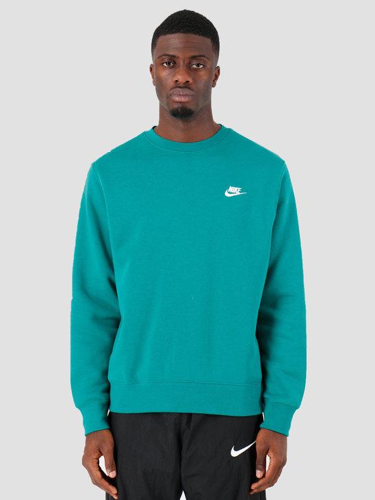 Nike Sportswear Club Crewneck Mystic Green White Bv2662-340