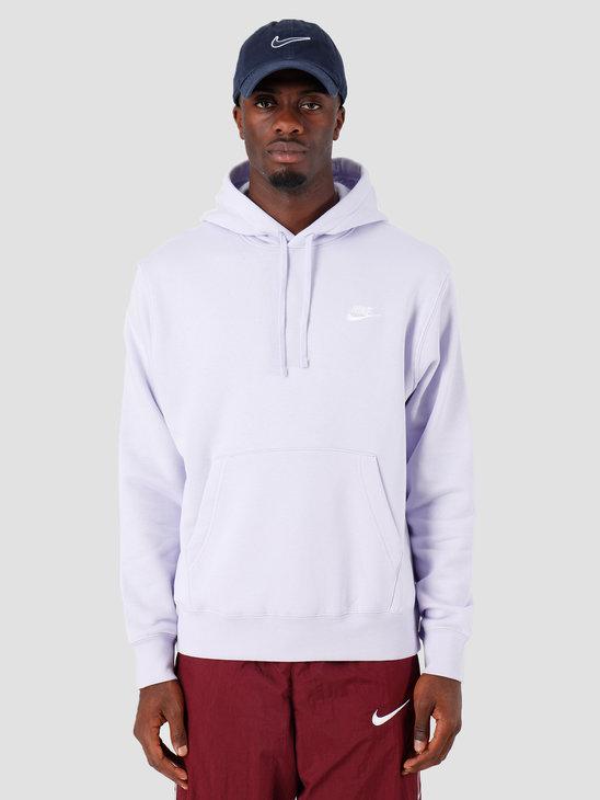 Nike Sportswear Club Fleece Hoodie Lavender Mist Lavender Mist White Bv2654-539