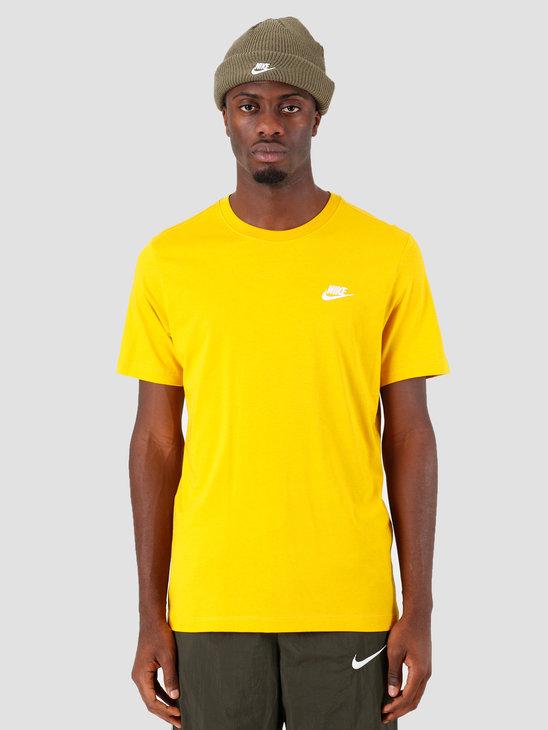 Nike Sportswear Club T-Shirt Dark Sulfur White Ar4997-743