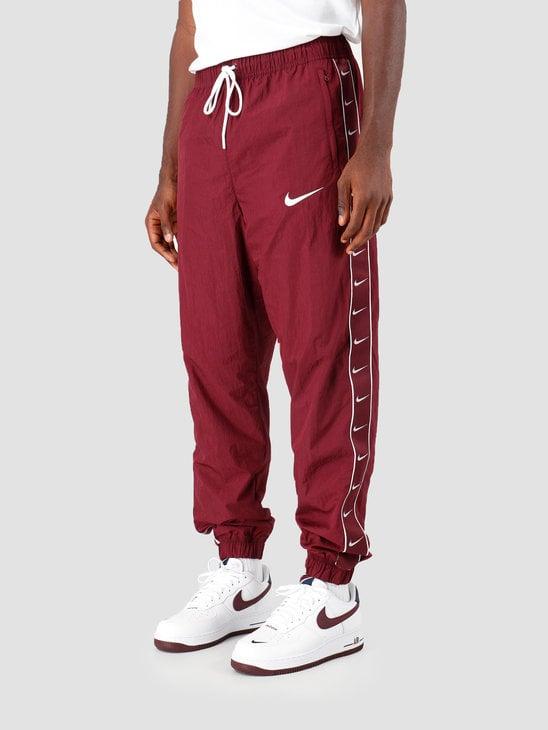 Nike Sportswear Swoosh Pants Night Maroon White Cd0421-681