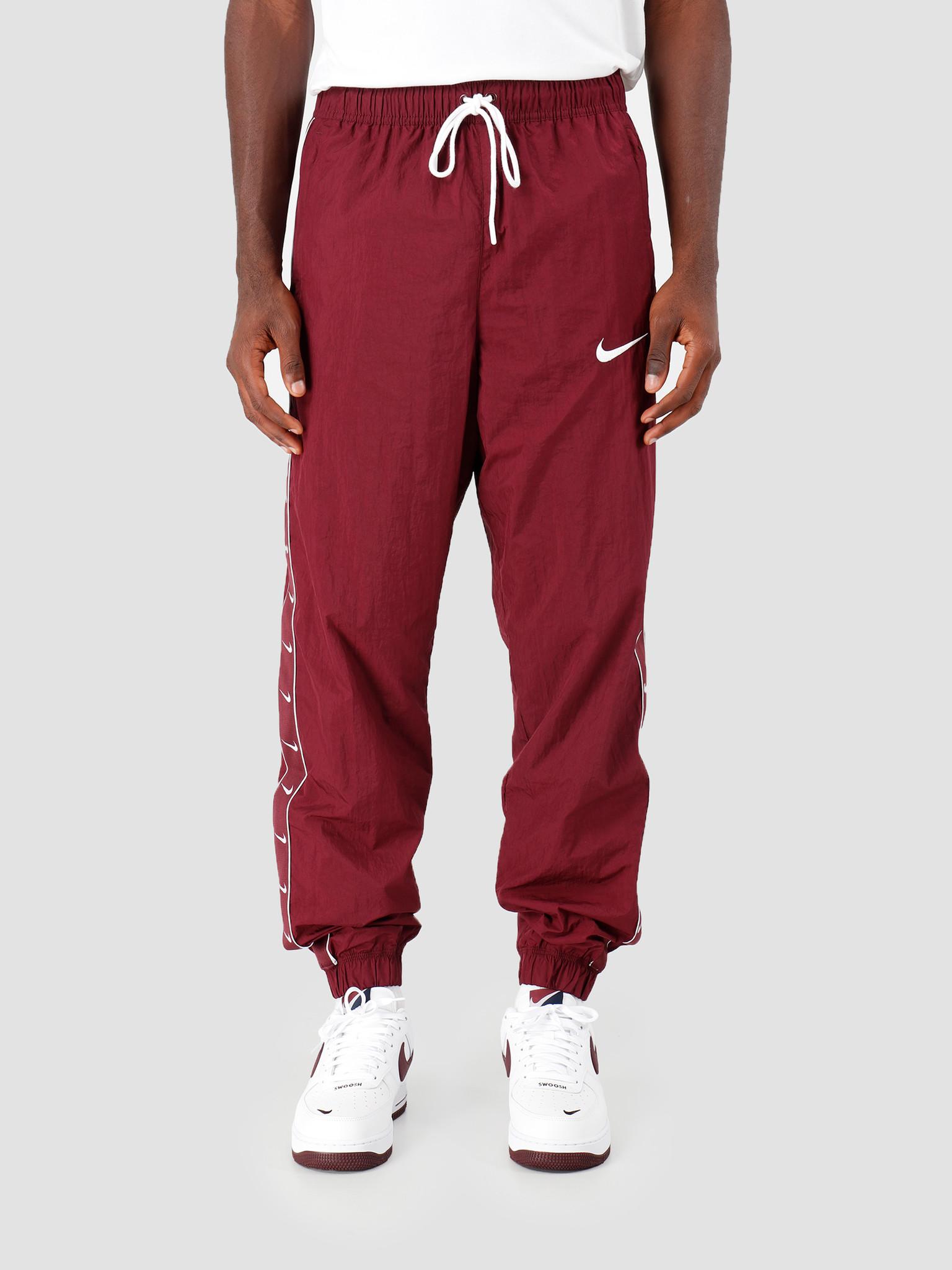 Nike Nike Sportswear Swoosh Pants Night Maroon White Cd0421-681