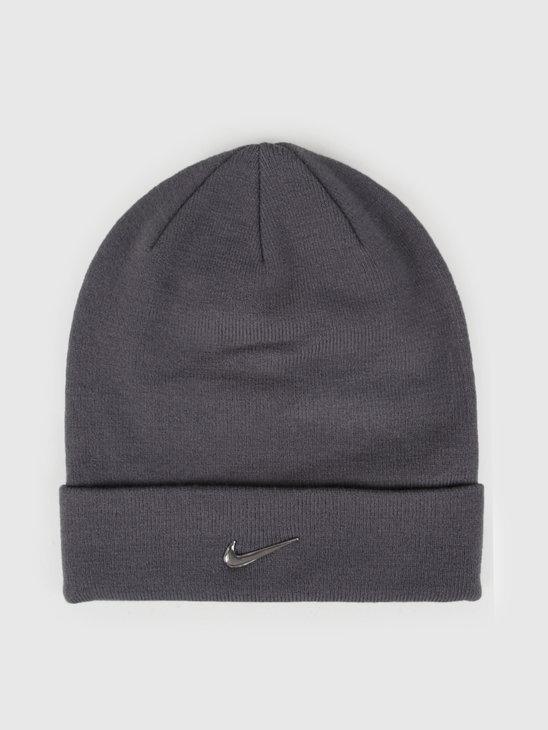 Nike Swoosh Beanie Dark Grey Metallic Silver 803734-021