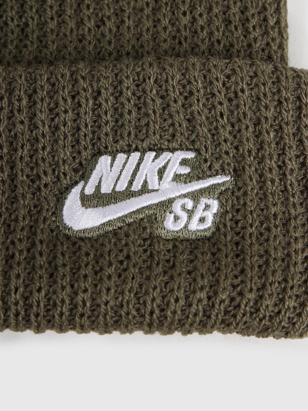 Nike Nike SB Fisherman Beanie Medium Olive White 628684-223