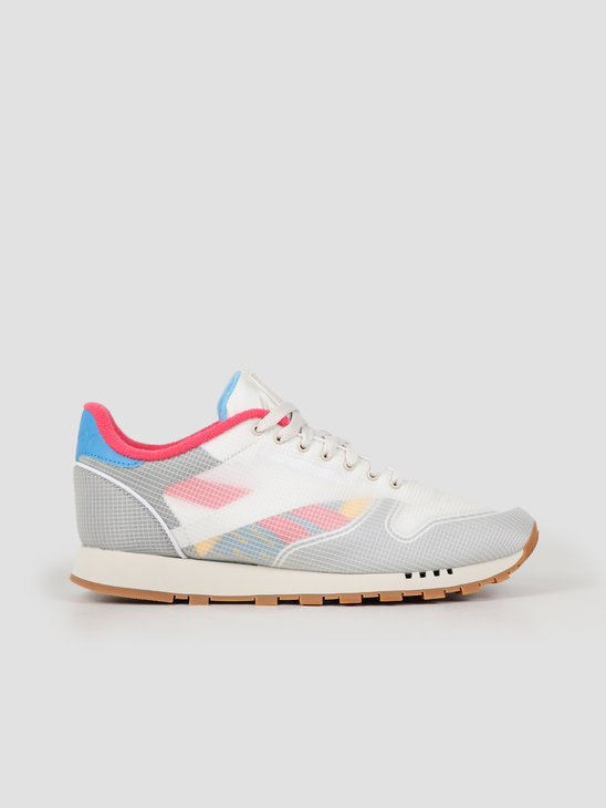 Reebok CL Leather NU Alabaster Cyan Pink  DV7218