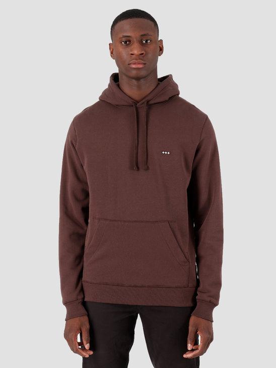 Quality Blanks QB93 Patch Logo Hoodie Chocolat Brown