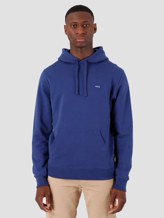 Quality Blanks QB93 Patch Logo Hoodie Deep Blue