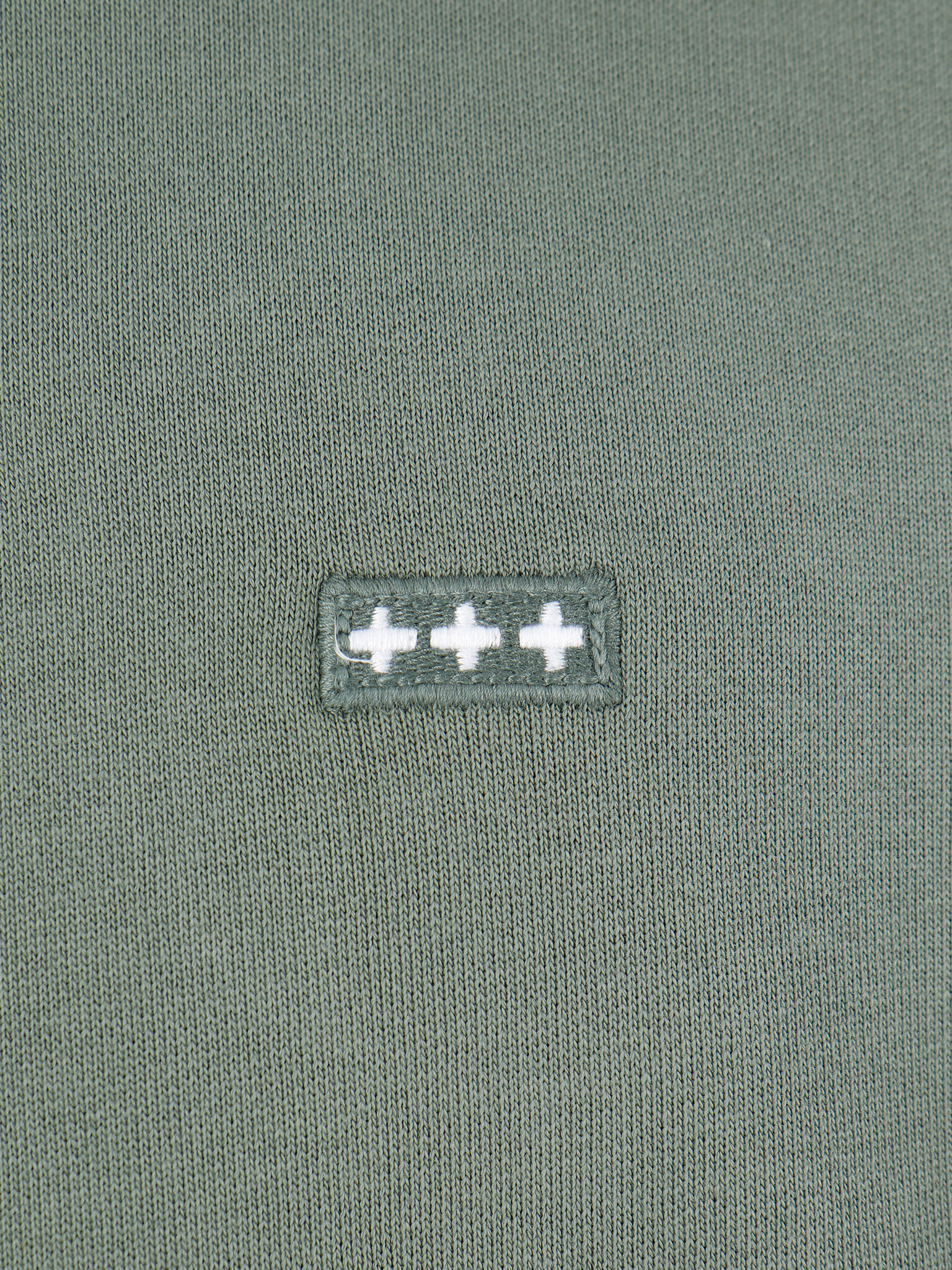 Quality Blanks Quality Blanks QB93 Patch Logo Hoodie Olive Green
