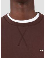 Quality Blanks Quality Blanks QB94 Patch Logo Crewneck Chocolat Brown