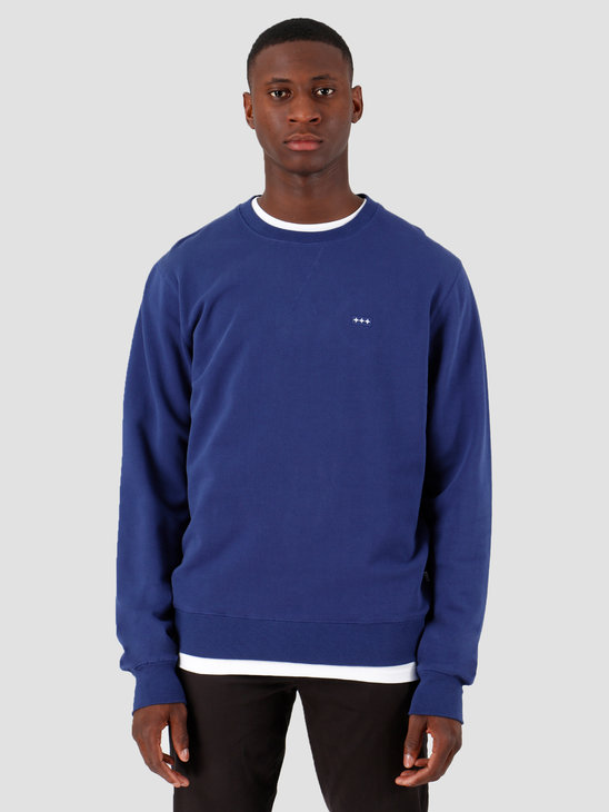 Quality Blanks QB94 Patch Logo Crewneck Deep Blue