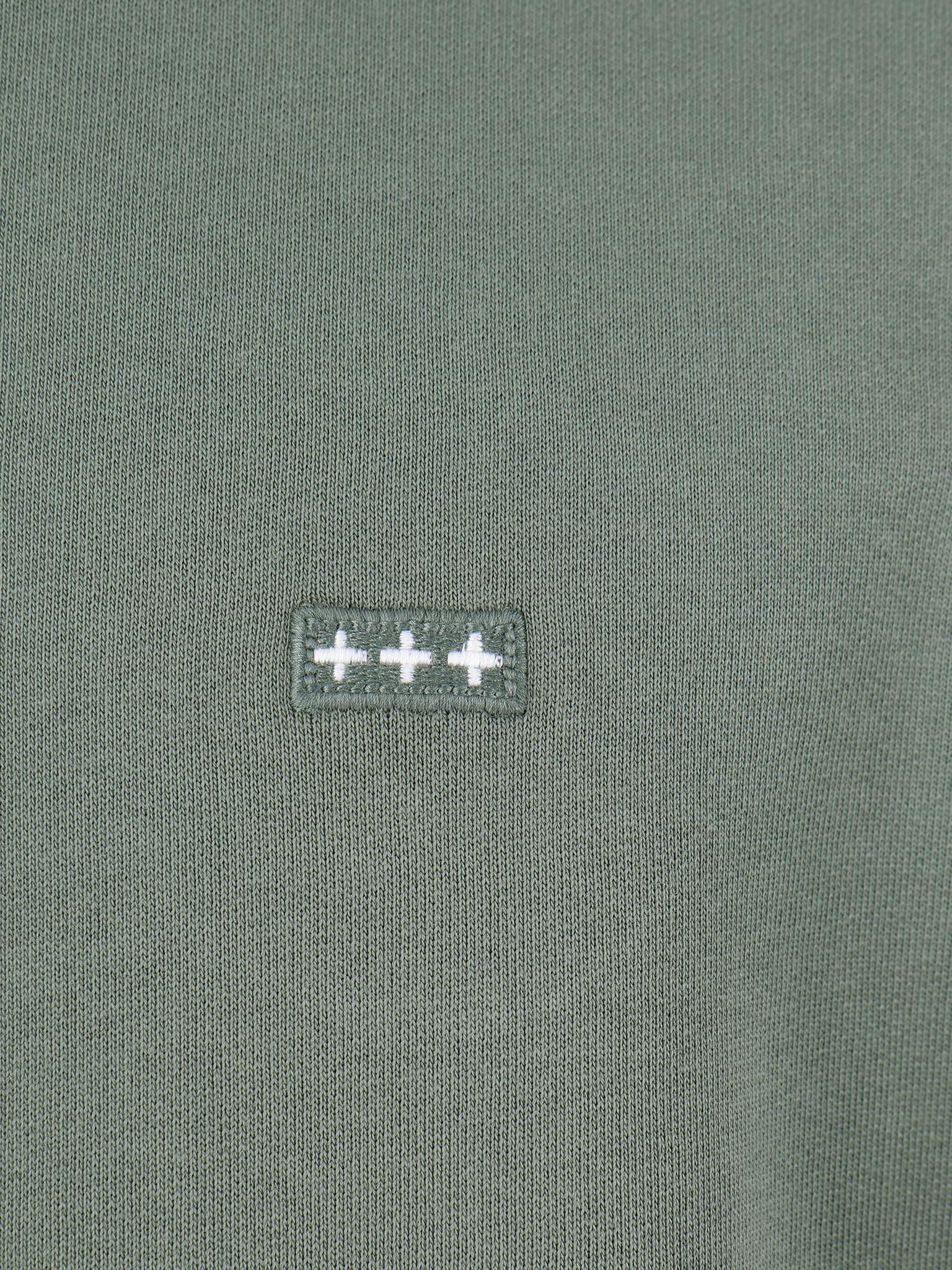 Quality Blanks Quality Blanks QB94 Patch Logo Crewneck Olive Green