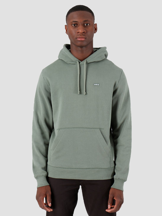 Quality Blanks QB93 Patch Logo Hoodie Olive Green