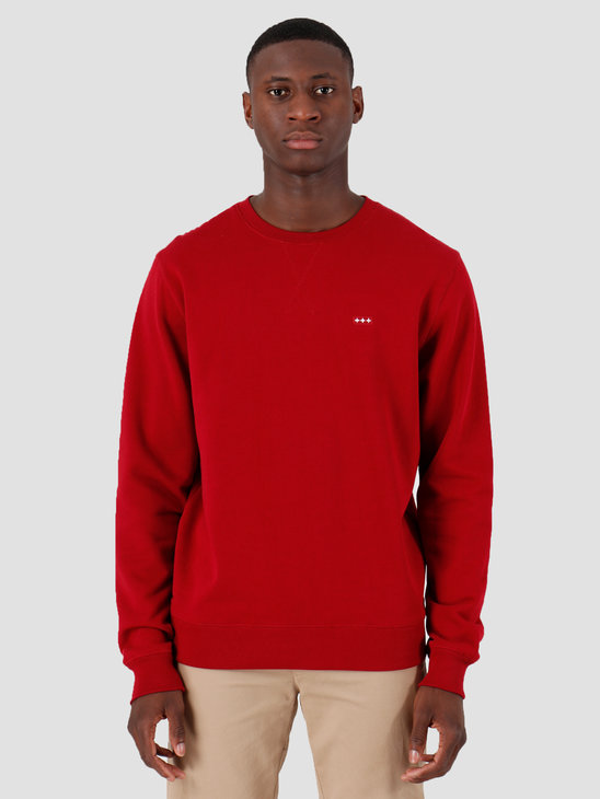 Quality Blanks QB94 Patch Logo Crewneck Jewel Red