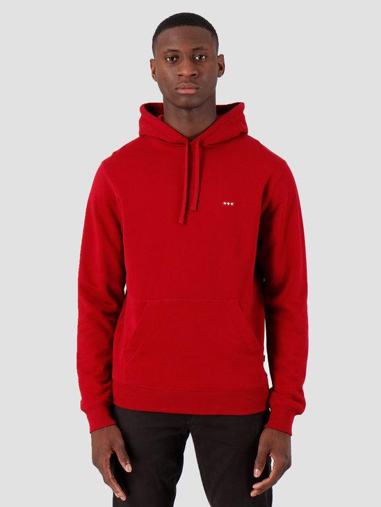 Quality Blanks QB93 Patch Logo Hoodie Jewel Red