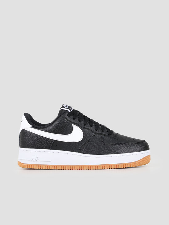 Nike Air Force 1 Black White-Wolf Grey-Gum Med Brown Ci0057-002