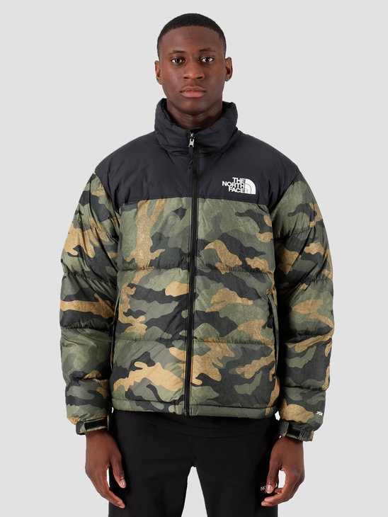 The North Face 1996 Retro Nuptse Jacket Burn To Live Green T93C8DF32