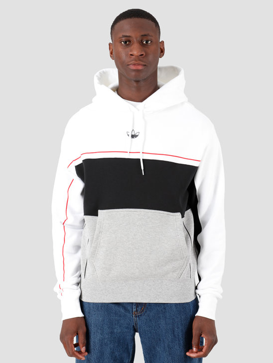 adidas Rivalry Hoody White Black Mgreyh White ED5464