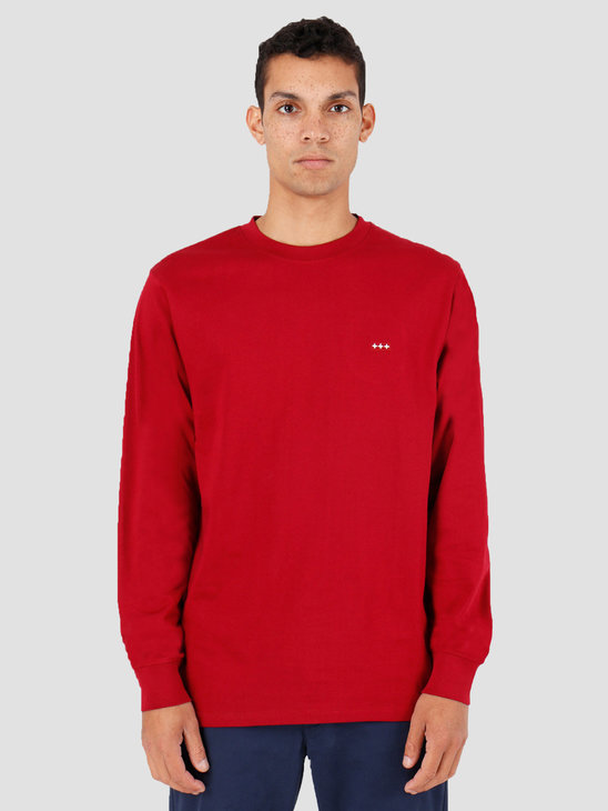 Quality Blanks QB05 Patch Logo Longsleeve Jewel Red