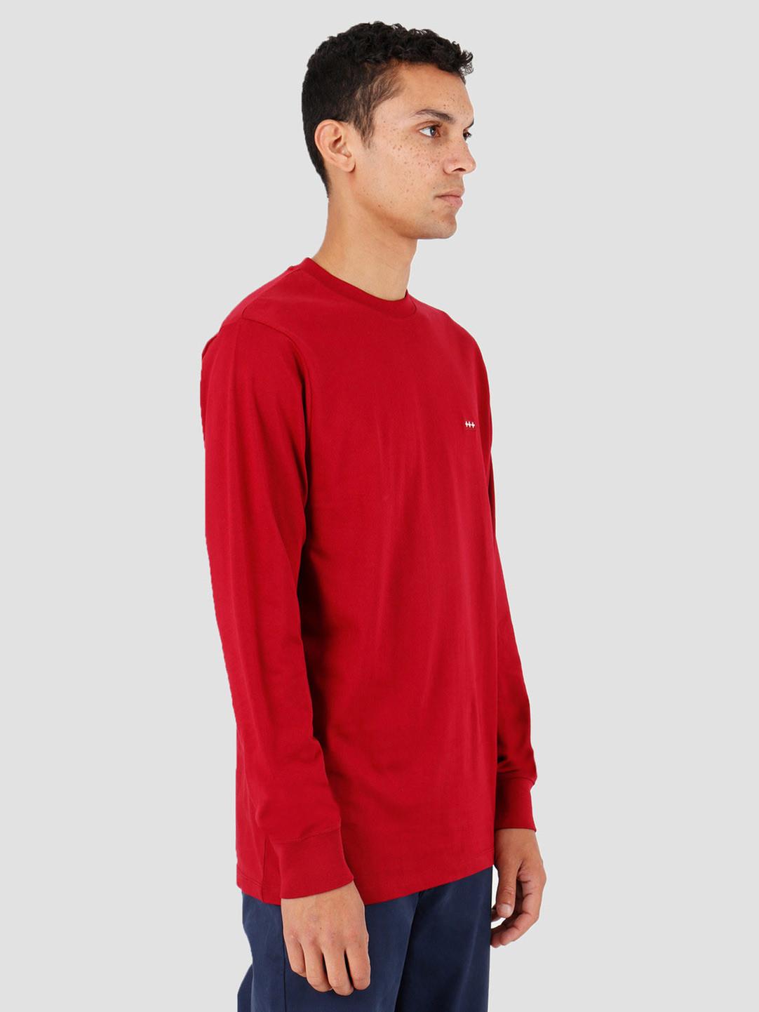 Quality Blanks Quality Blanks QB05 Patch Logo Longsleeve Jewel Red