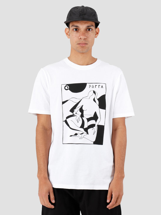 By Parra Complicated Beach Scene T-Shirt White 42970