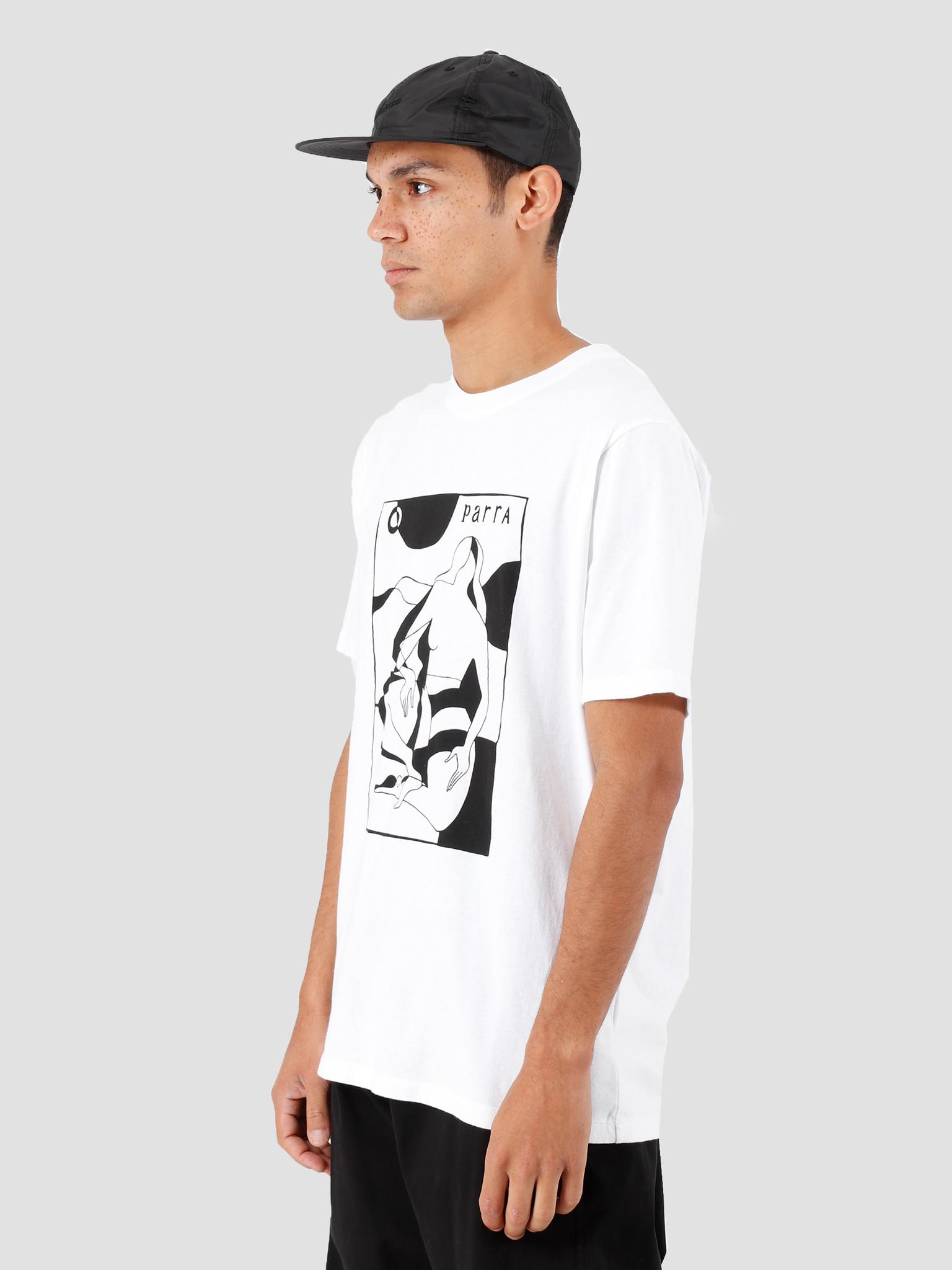 By Parra By Parra ComplicatedBeachSceneT-Shirt White 42970