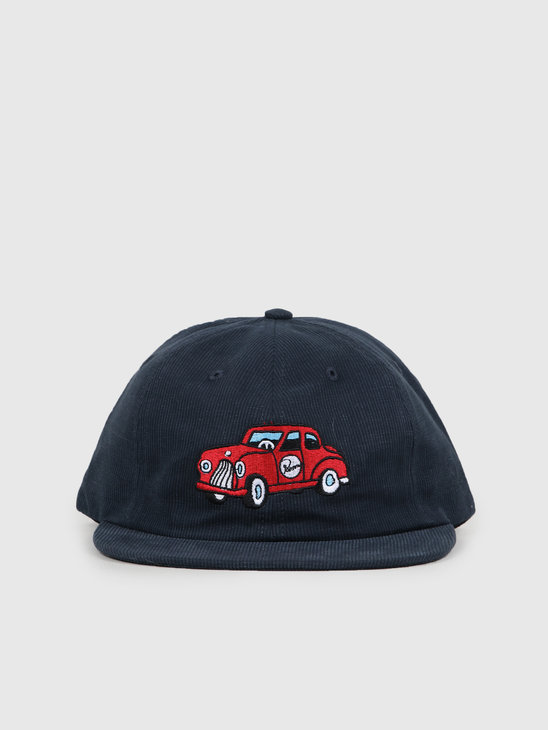 By Parra Toy Car 6 Panel Hat Navy Blue 43060