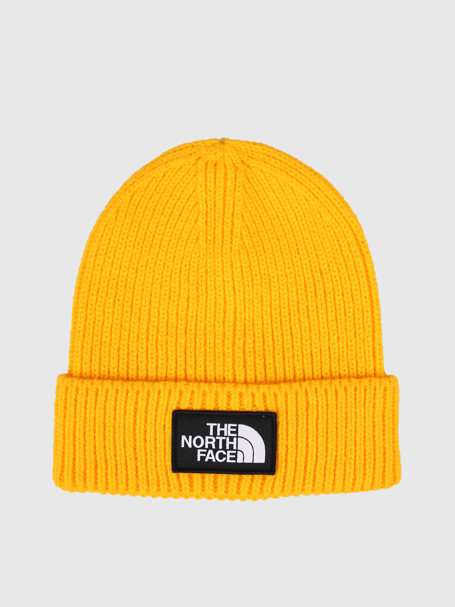 The North Face The North Face Logo Box Cuffed Beanie Yellow T93FJX70M