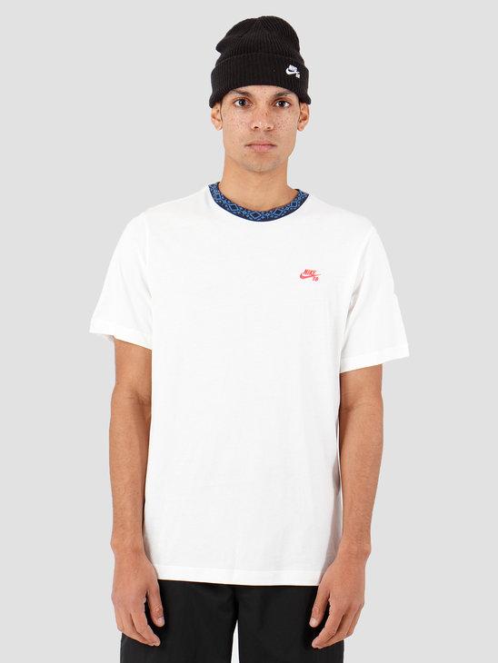 Nike SB T-Shirt Sail Obsidian Bright CriMSon Cj0454-133