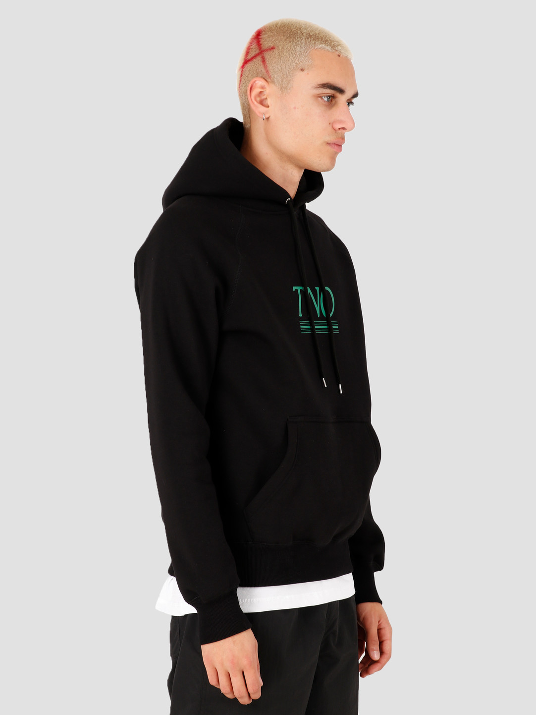 The New Originals The New Originals Underline Hoodie Black Green