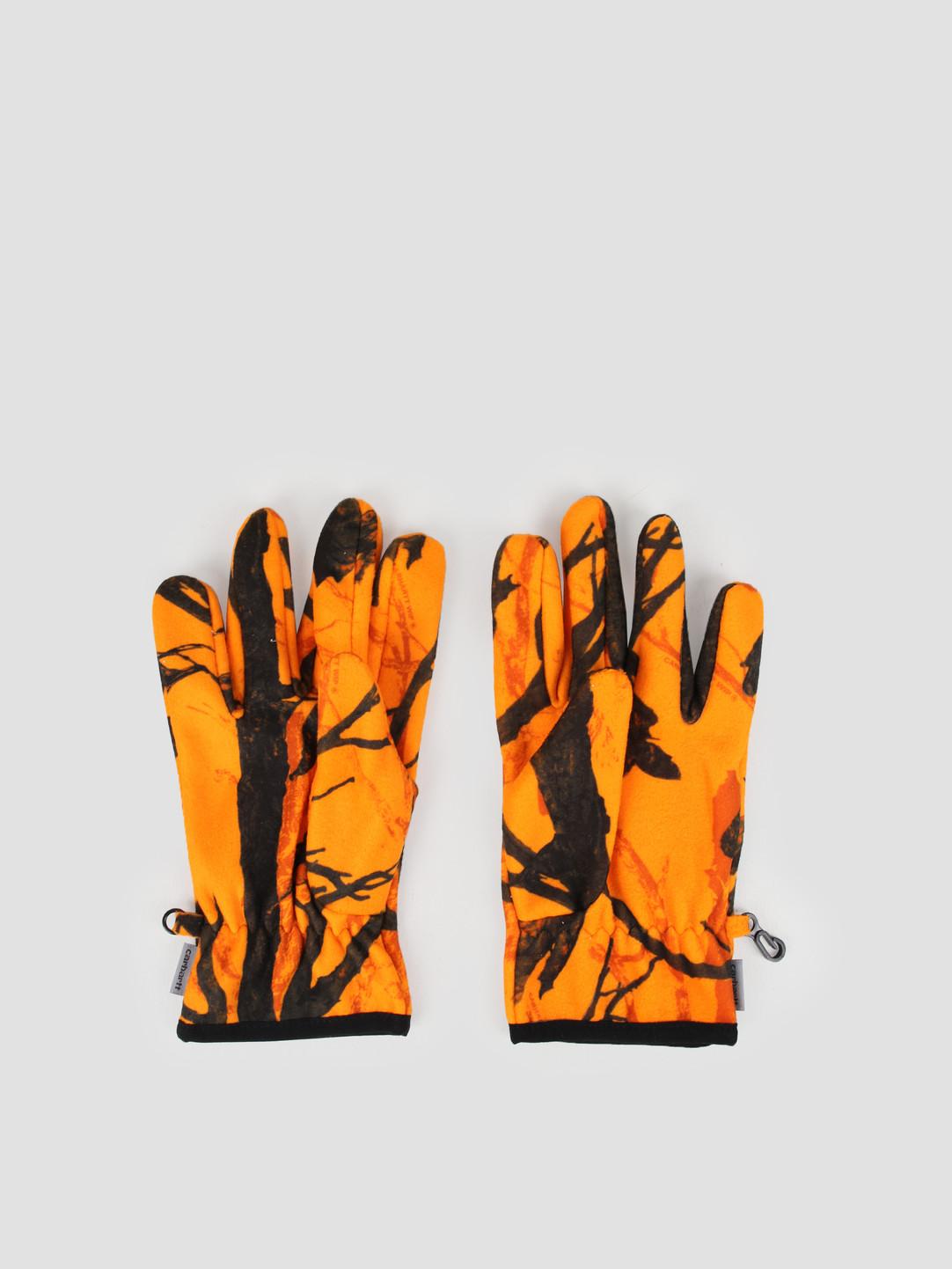 Carhartt WIP Carhartt WIP Beaufort Gloves Camo Tree Orange Reflective I026838