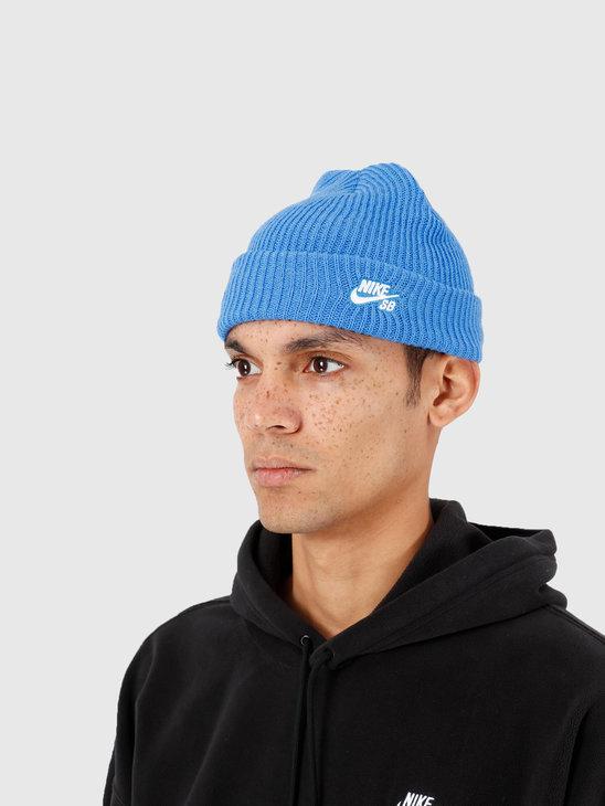 Nike SB Fisherman Beanie Pacific Blue White 628684-402