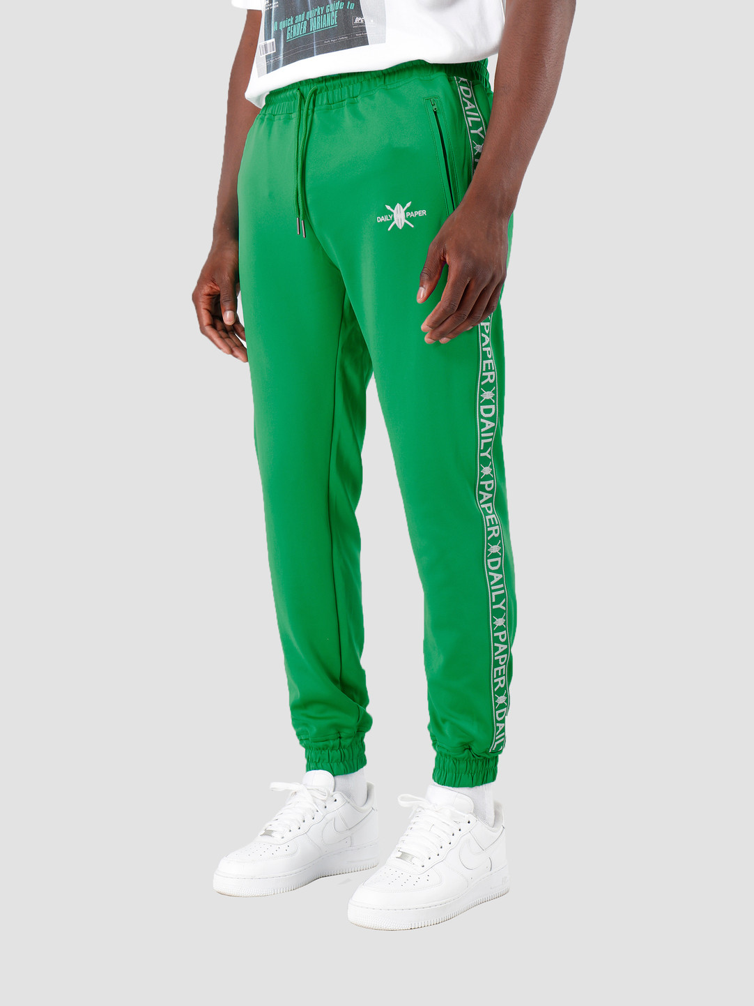Daily Paper Daily Paper Tape Logo Track Pants Jolly Green 19E1PA02-03