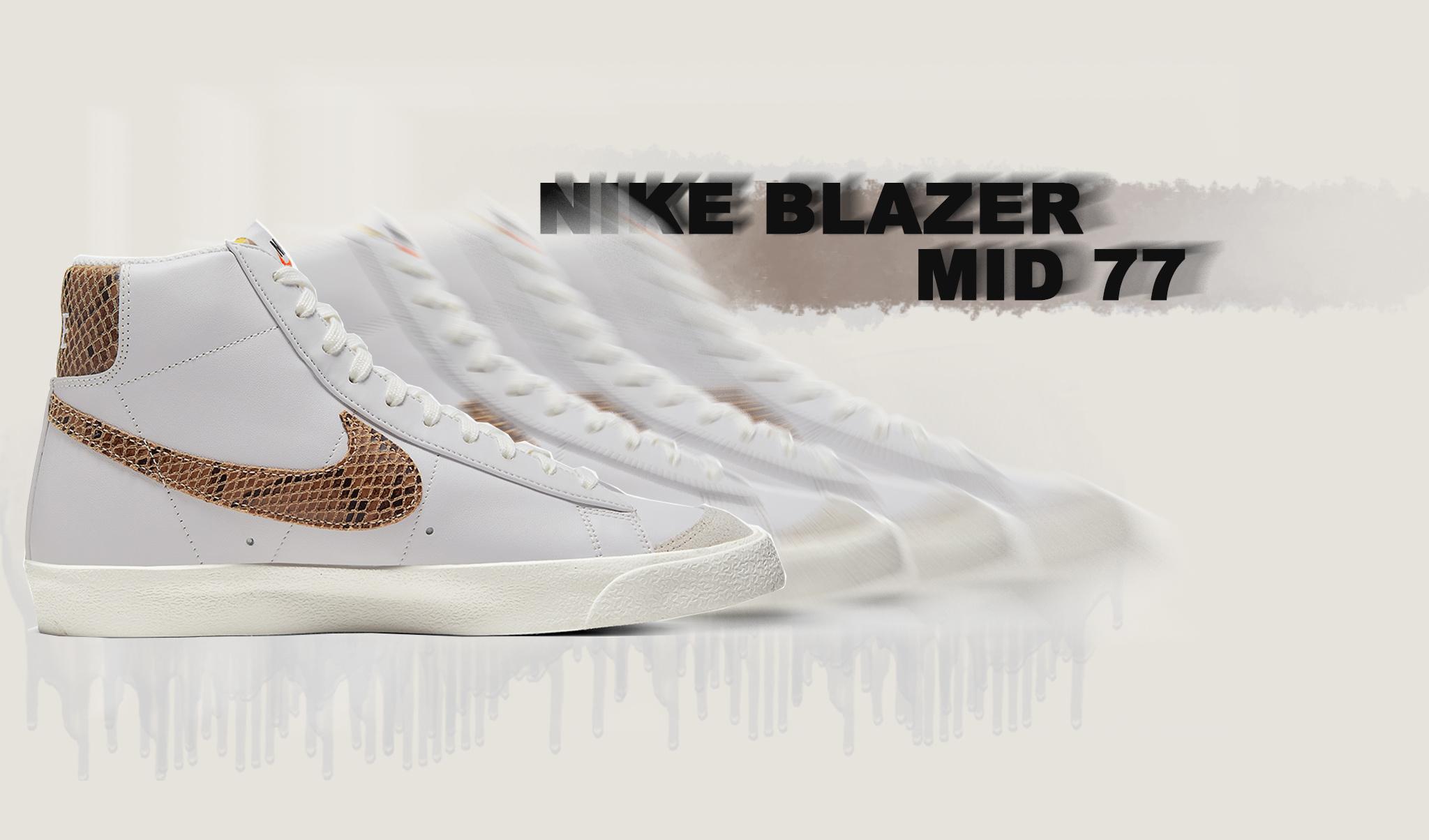 "Release - Nike Blazer Mid '77 Vintage ""Python"""
