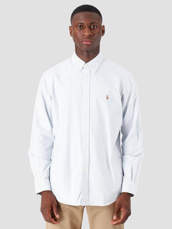 Polo Ralph Lauren Classic Fit Shirt Stripe Blue White 710548535006