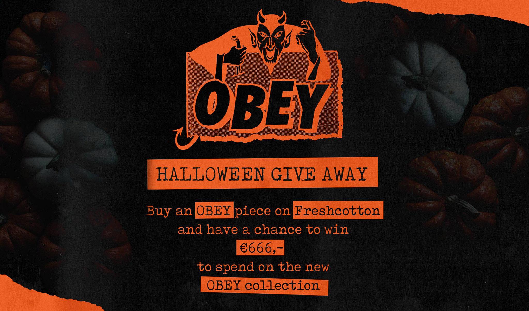 FRESHCOTTON x OBEY Give Away