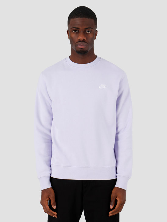 Nike Sportswear Club Crewneck Lavender Mist White Bv2662-539
