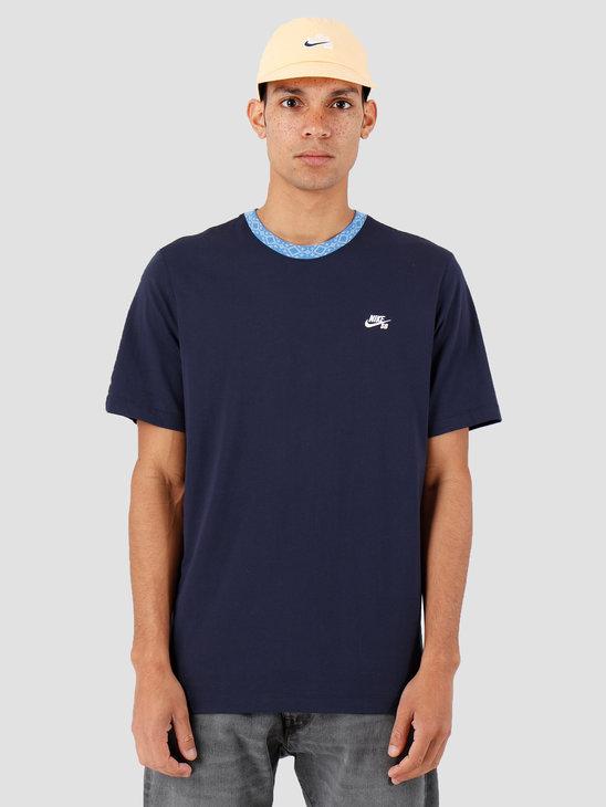 Nike SB T-Shirt Obsidian Pacific Blue White Cj0454-451