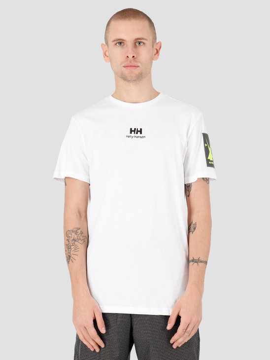 Helly Hansen Yu Twin Logo T-Shirt 002 White 53391