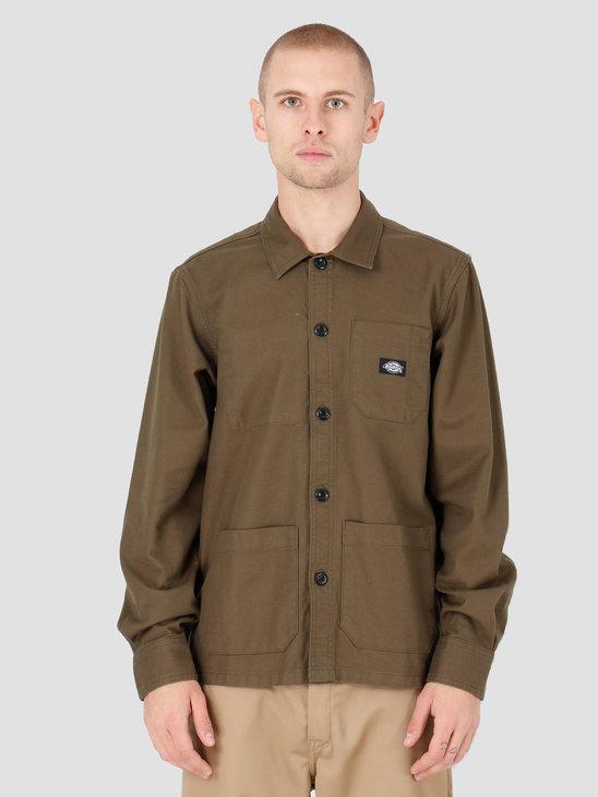 Dickies Caprock Shirt Dark Olive DK520359DKO1