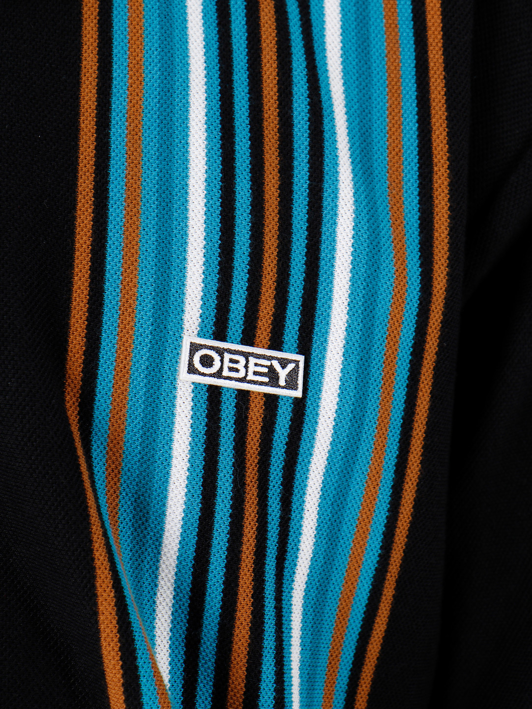Obey Obey Shortsleeve Polo Black Multi 131090048-BKM