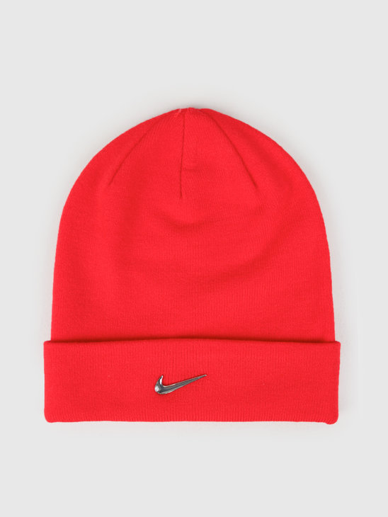 Nike Swoosh Beanie University Red Metallic Silver 803734-657